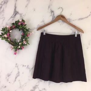 J Crew Wool Shirred Mini Skirt